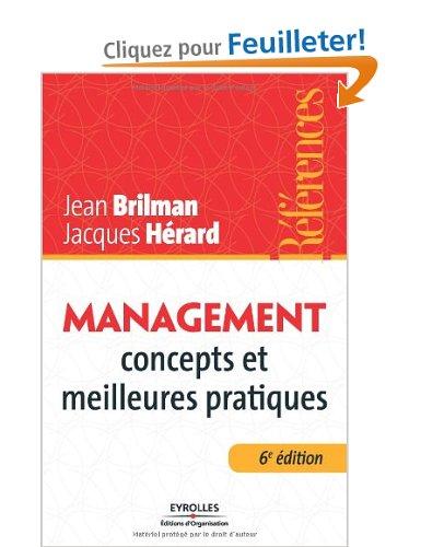 """"""" Management : concepts et meilleures pratiques"""" de Jean Brilman et Jacques Hérard"""