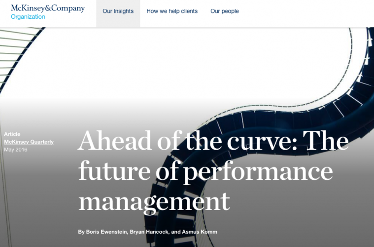 "McK on ""The future of performance management"""