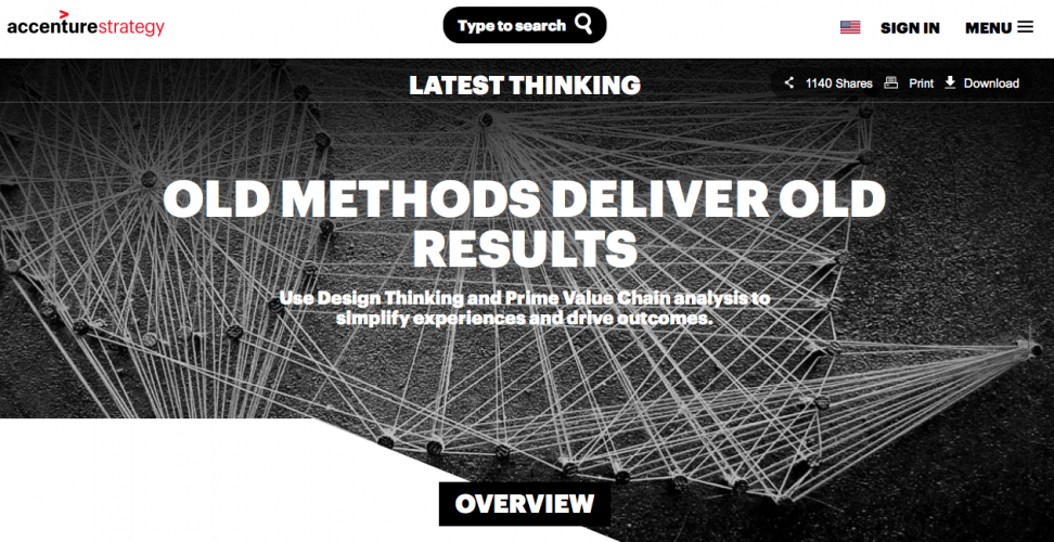 """Old methods deliver old results"" Accenture revisits Value methods"