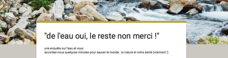 """""""eau oui"""" : de l'eau, chez vous, c'est tout !"""