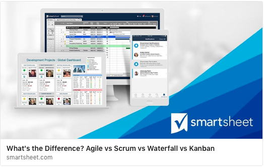 What 39 s the difference agile vs scrum vs waterfall vs for Kanban waterfall