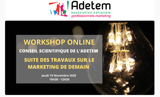 """le marketing de demain"" par le Conseil Scientifique de l'ADETEM"