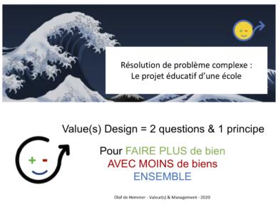 les belles histoires du Value(s) Design : le projet éducatif d'une école
