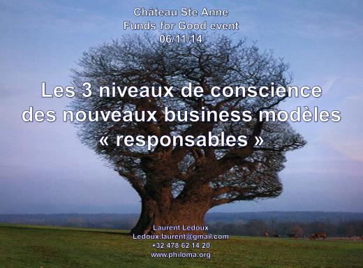 """Laurent Ledoux """"3 niveaux de business models responsables"""""""