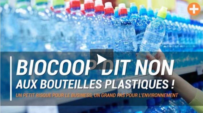 BIOCOOP NE VEUT PLUS DE BOUTEILLES D'EAU EN PLASTIQUE DANS SES MAGASINS