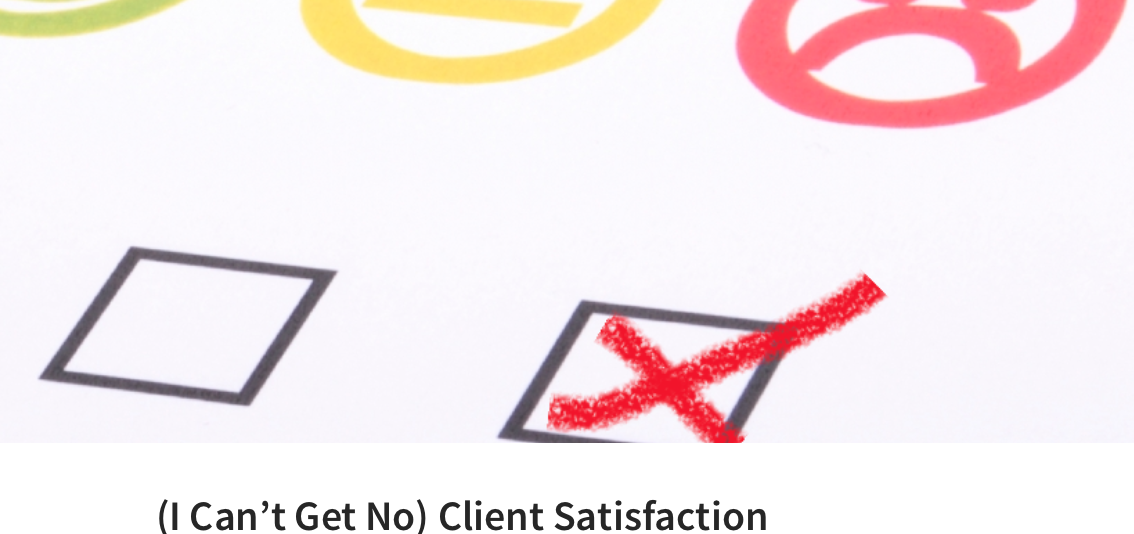 (I can get no) Client satisfaction, par Olivier Durand