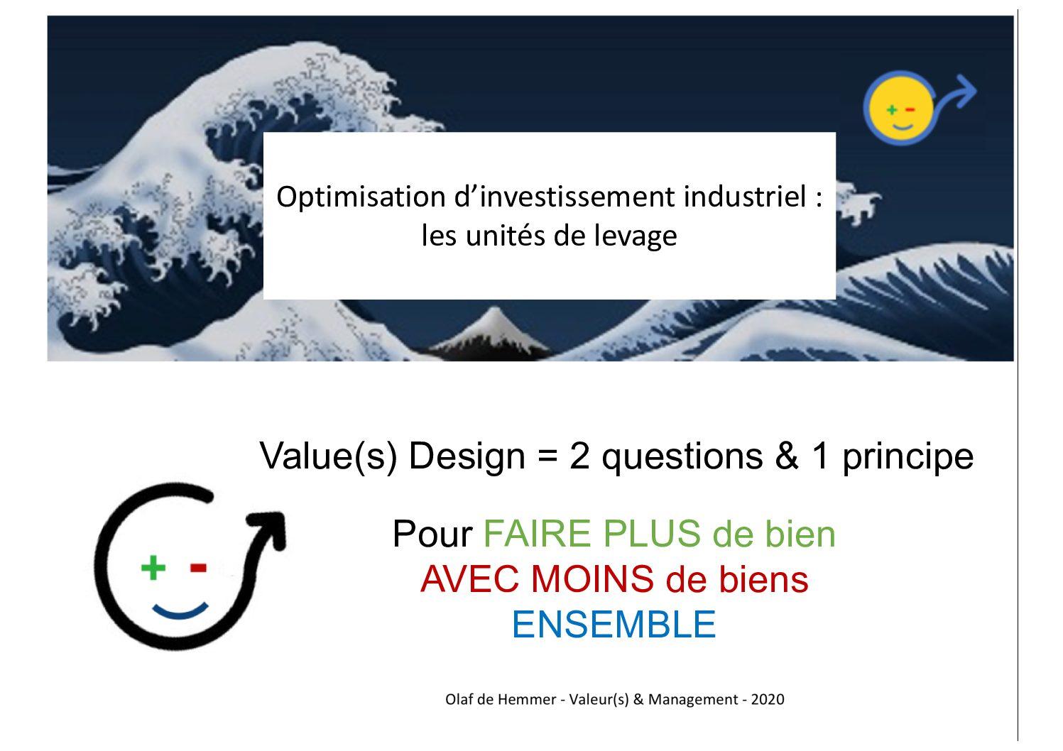 les belles histoires du Value(s) Design : remplacement des unités de levage d'un site industriel