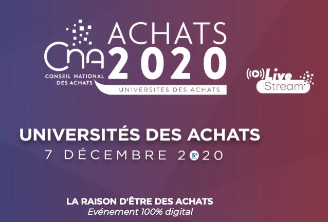 """Universités des Achats 2020 : """"la raison d'être / le bon sens des Achats"""""""